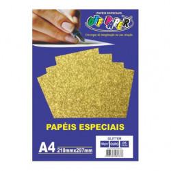 Papel especial ouro a4